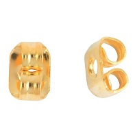 Goldtone Stainless Steel EARRING CLUTCH / EARNUTS / BACKINGS