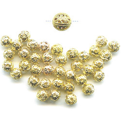 4mm 22kt Gold-Plated FILIGREE ROUND Beads