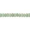6x4mm Green Aventurine (Natural) Faceted RONDELLE, B Grade