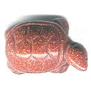12x20mm Red Goldstone TURTLE Animal Fetish Bead