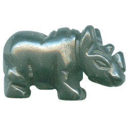 12x20mm Hematite RHINOCEROS Animal Fetish Bead