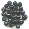 6mm to 8mm Polished Black Horn ROUND Bead Mix