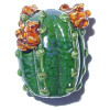 20x25mm Lampwork Glass *High Desert* Sculpted CACTUS Focal Bead ~ Carolyn Driver