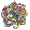 30mm *DAHLIA GLORY* Sculpted Lampwork Focal/Pendant Bead ~ Lluvia Brito