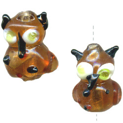 12x16mm Lampwork Glass OWL Beads