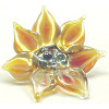 30x32mm *WILD SUNFLOWER* Sculpted Lampwork Focal/Pendant Bead ~ Lluvia Brito