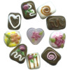 12x15mm Lampwork Glass Valentine CHOCOLATE, CONFECTION Beads