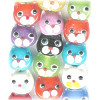 10x11mm Lampwork Glass Mixed CAT FACE Beads