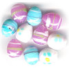 12mm to 13mm Pastel Mix Lampwork *Easter Egg* OVAL Beads