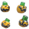12x12mm Lampwork Glass Halloween JACK'O LANTERN Beads