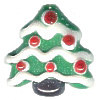 18x18mm Lampwork Glass CHRISTMAS TREE Bead