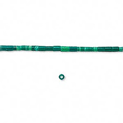 2x3mm Block Malachite (Simulated) HESHI Beads
