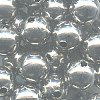 10mm Heavy Nickel-Plated Hollow Brass SMOOTH ROUND Beads