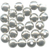7mm Heavy Nickel-Plated Hollow Brass SMOOTH ROUND Beads