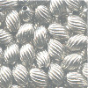 3x5mm Nickel-Plated Brass Spiral RICE Beads
