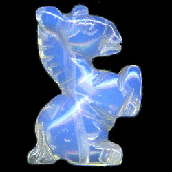 20mm Opalite 3-D UNICORN Bead