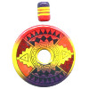 40mm Hand Painted Peruvian Ceramic DONUT Pendant Set