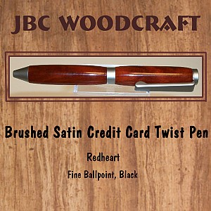 Redheart, Brushed Satin Credit Card Twist Pen ~ JBC Woodcraft®
