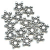 1x8mm Lead-Safe Antiqued Pewter Studded Star DISC / SPACER Beads