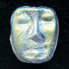 11x13mm Transparent Frosted Crystal A/B Vitrail Pressed Glass MASK Beads