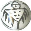 12mm Hand Painted Porcelain Petroglyph ROUND Beads