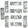 5x18mm Black Etched Porcelain TUBE Bead Mix - Plains Indian Designs