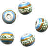 12mm Hand Painted Peruvian Ceramic ROUND Beads