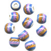 9mm Hand Painted Peruvian Ceramic ROUND Beads