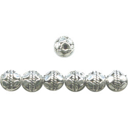 6mm Silver Plated Pewter Bali Style Fancy ROUND Beads
