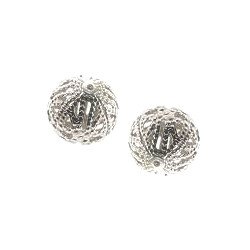 12mm Silver Plated Brass FILIGREE ROUND Beads