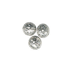 8mm Silver Plated Brass FILIGREE ROUND Beads