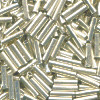 1.5x5mm Sterling Silver (Liquid Silver) Heshi Tube Beads