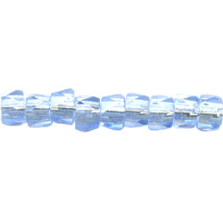 4x5mm Transparent Pale Blue Pressed Glass (Fire Polished) FACETED DISC Beads