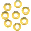 9mm Transparent Topaz Pressed Glass FISHER RING Beads