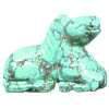 15x18mm Chinese Blue Turquoise 3-D HORSE Animal Fetish Bead