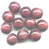 11-12mm Redwood Stained Natural ROUND Wood Beads
