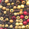 2mm - 6mm Stained Wood BEAD MIX